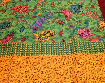 Bug/lizard pillowcase
