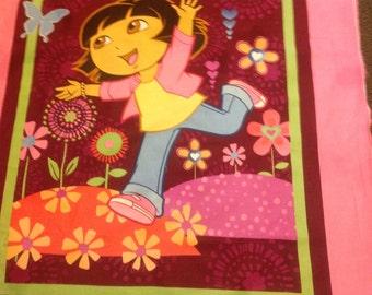 Dora the explorer reversible quilt