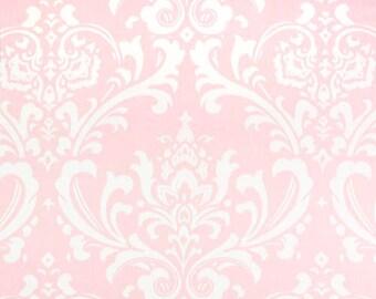 "Home Dec Cotton Twill fabric | Ozbourne Damask Bella Pink White 54"" width | Premier Prints"