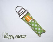 White and Spring Green Lipgloss Keychain