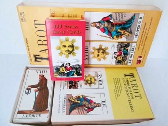 Vintage 1jj Swiss Tarot Cards