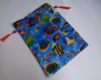 Colorful Tropical Fish Cloth Gift or Storage Bag