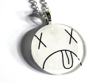 Dead Smiley Face Necklace