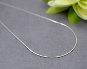 "1mm snake style sterling silver necklace chain 16 18 20 24 30 inch "" 41 to 76 cm chain necklace finished necklace strong smooth round single"