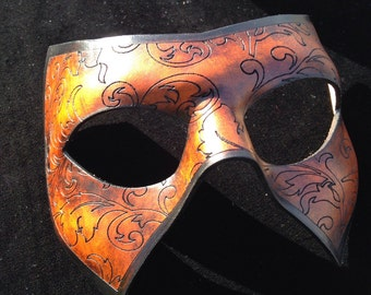 Floral Superhero leather mask