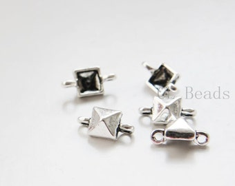 20pcs Oxidized Silver Tone Base Metal Links - 13x7mm (24353Y-C-422)