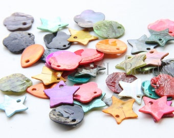20 Pieces of Mixed Colored Shell Charm (T-190)