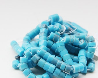 24 Inch Full Strand Synthetic Heishi Beads - 5x3.8mm (46)