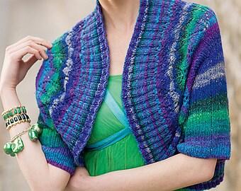 Feather Shrug PDF Knitting Pattern