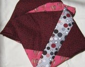 Lined Sandwich Bag--Scrappy Burgundy Pink Gray