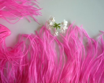 VOGUE OSTRICH Feather Fringe / Hot Pink / 349