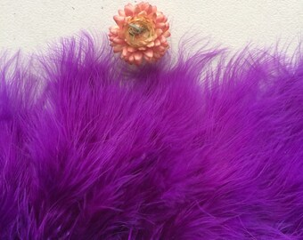 MARABOU FEATHER Fringe / Deep Purple, Violet      /  M - 14