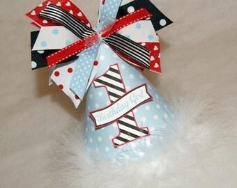Alice in Wonderland Party Hat - Onederland, light blue, red, black, Queen of Hearts, Alice Birthday