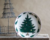 Vintage Lefton Christmas Tree Plate, Was 15.00 Now 10.00,  Holiday Decor, Hand Painted, Pine Tree, Wall Art, No. 2886