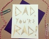 "Cutout ""Dad You're Rad"" Greeting Card"