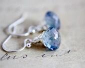 Blue Earrings Silver Denim Dangle PoleStar Cornflower