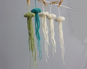 PDF Crochet Pattern Download for Jellyfish Amigurami Sea Creature, Nautical Home Decor Pattern, Cottage Chic Crochet Pattern