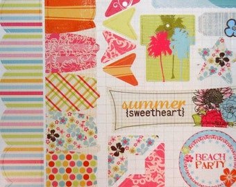 "FANCY PANTS - ""Summer Soul"" -- Scrapbook Embellishment - Element Stickers"