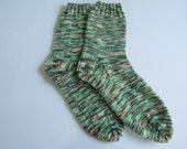 Hand Knit Women's Socks Size 9 Made in Maine with Opal Sock Yarn