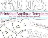 Alphabet Applique Template - Alphabet Applique Pattern - PDF Pattern, DIY