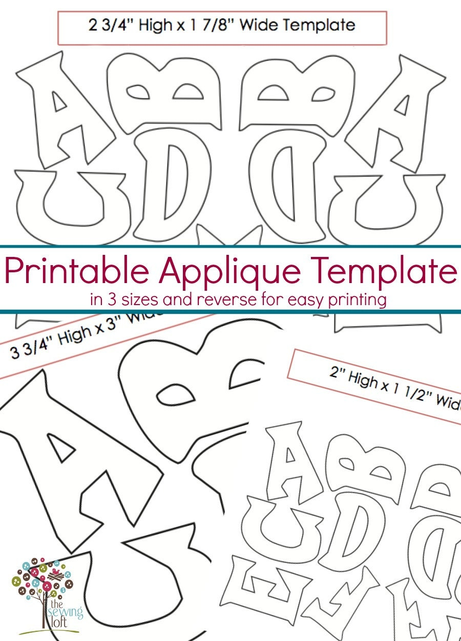 Sizzling image in free printable alphabet templates for applique