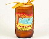 Longboard Island Lager Beer Candle Kona Brewery Big Island Hawaii Candle Tiki Bar Decor Diamond Head  Oahu Candle Handmade in Hawaii Surf