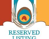 Reserved Listing: Divya Custom Fanciful Peacock Invitation/Info Card