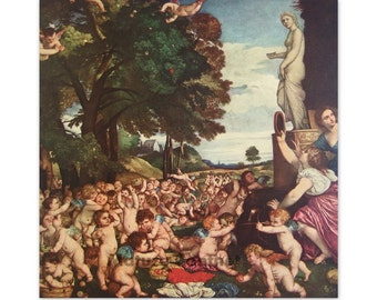 The Worship of Venus by Titian - a Frameable Vintage 1955 Art Print