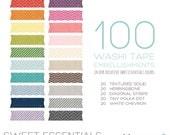 Sweet Essentials Washi Tape Bundle - 100 Digital Embellishments for Scrapbooking or Photographers - Instant Download - PE0001