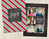 Joy to the World Chalkboard Cheer Vol 2 Holiday Photo Card | Photoshop Templates for Photographers | CS6024a