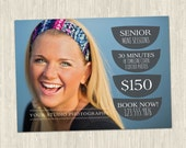 Modern HS Senior Promotional Photography Marketing Mini Session Card | One-Sided 5x7 PSD | Photoshop Template | MM2004 | Instant Download