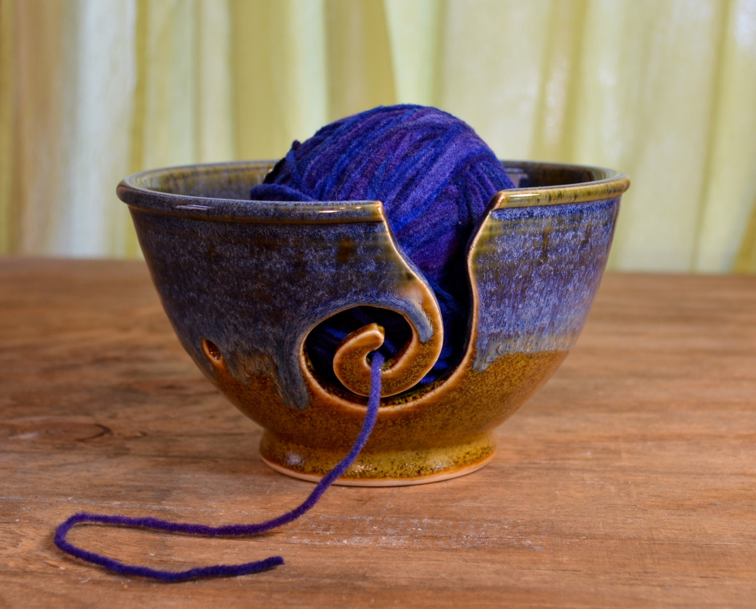 Crochet Yarn Bowl : Yarn bowl ceramic knitting crochet porcelain by hughespottery
