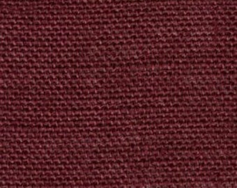 BURGUNDY Burlap Fabric By the Yard - 58 - 60 inches wide