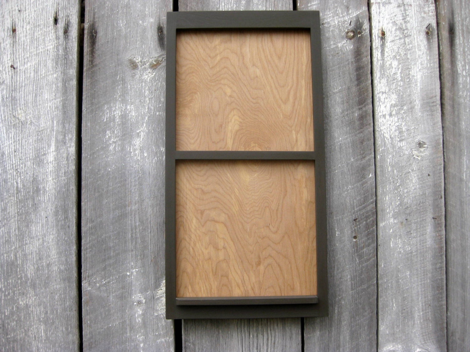 12 x 24 wood frame calendar holder in dark gray. Black Bedroom Furniture Sets. Home Design Ideas