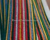 1.75 yards Geometric Belting- Vintage Trim Juvenile 70s 80s New Old Stock Fun Striped Stretchy