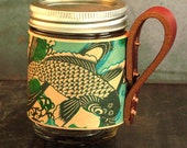 Koi fish leather mason jar sleeve