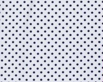 White with black small dots 1 yard knit