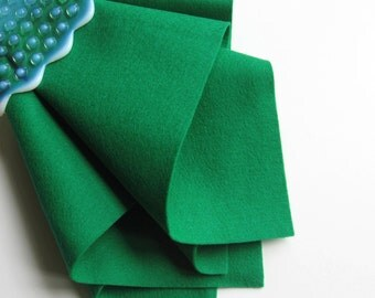 Emerald Green, Wool Felt, Pure Merino Wool, Felt Sheet, Large Felt Square, Craft Supply, Dark Green Felt, Felted Wool, Applique