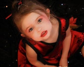 New Punk Rock RED Cherry Blossom Kimono Toddler Girls Dress size 2t, 3t