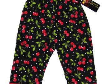 New Rockabilly Retro Cherry Baby Pants size nb-18M