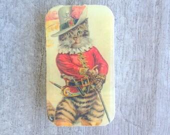 Dapper Cat tin, pill box, gift tin