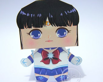 Sailor Saturn Printable Paper Craft PDF