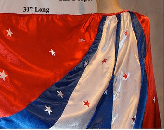 """Size Small 30"""" L x 54"""" W Awesome Satin Cape for your Super Hero / Wonder Woman or WW Nemisis Costume..."""