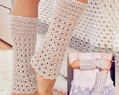 Instant download - Crochet PATTERN for leg warmers (pdf file) - Ribbed Arm and Leg Warmers (2 in 1)