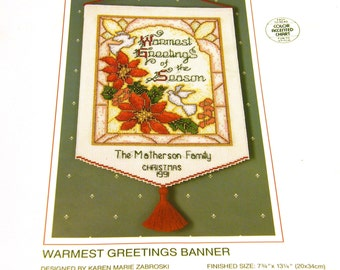 Warmest Greetings Banner - Sunset Cross Stitch Kit
