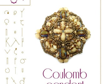 Beading tutorial Pendant tutorial / pattern Coulomb..PDF instruction for personal use only