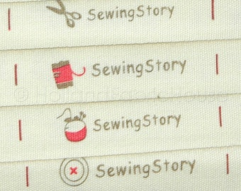 1 m sewing tape - Sewing Story Labels Ribbon