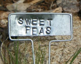 Sweet Peas Metal Garden Marker