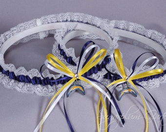 San Diego Chargers Lace Wedding Garter Set