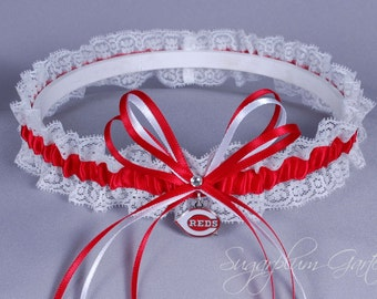 Cincinnati Reds Lace Wedding Garter